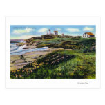 View of Nubble Lighthouse from York Beach Postcard