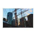 View of NYC from South Street Seaport Gallery Wrap Canvas
