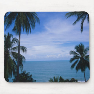 View of ocean horizon from land mouse pad