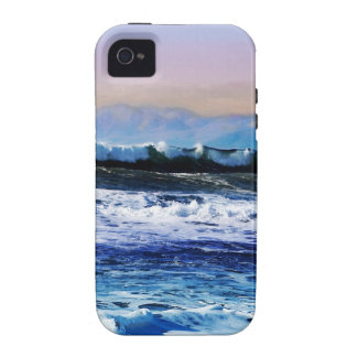 View of Ocean Waves from Cliff Vibe iPhone 4 Covers