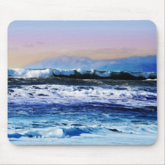 View of Ocean Waves from Cliff Mouse Pads