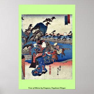 View of Okitsu by Utagawa, Toyokuni Ukiyoe Poster