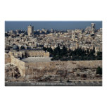 View of Old City from Mount of Olives, Jerusalem, Poster
