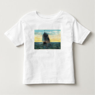 View of Old French Castle, 3 Countries Flags T-shirts