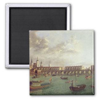 View of Old London Bridge Magnet