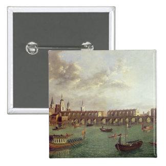 View of Old London Bridge Pinback Button