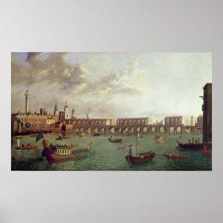 View of Old London Bridge Poster