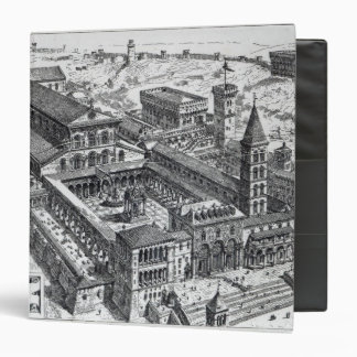 View of Old St.Peter's, Rome, 1891 3 Ring Binder