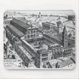 View of Old St.Peter's, Rome, 1891 Mouse Pad