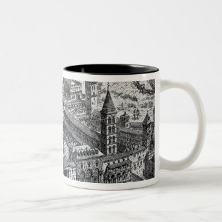View of Old St.Peter's, Rome, 1891 Two-Tone Coffee Mug