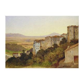 View of Olevano, 1821-24 Canvas Print