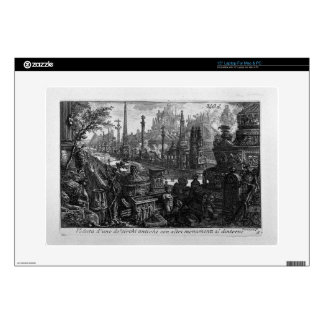 """View of one of monuments in ancient Circus Giovann 15"""" Laptop Decal"""