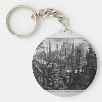 View of one of monuments in ancient Circus Giovann Keychain