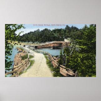 View of Orr's Island Bridge Poster