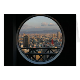 View of Osaka Japan from Umeda Sky building Card