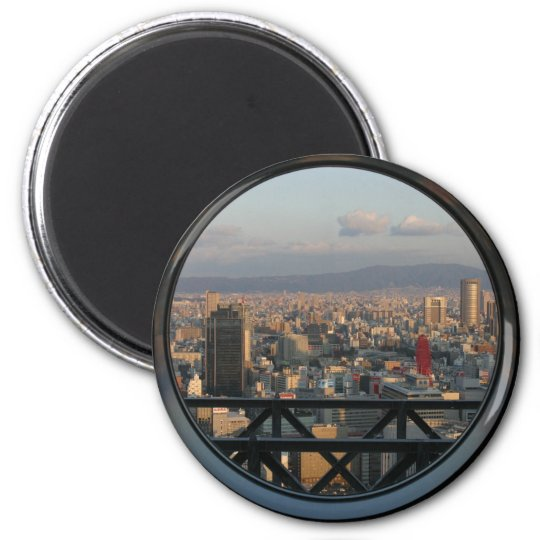 View of Osaka Japan from Umeda Sky building Magnet