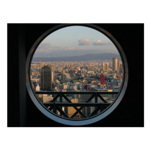 View of Osaka Japan from Umeda Sky building Postcard