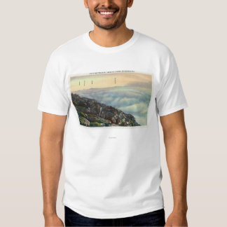 View of Other Adirondack Mts above the Clouds T Shirt