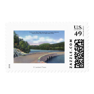View of Otter Creek Viaduct, Champlain Mt. Postage
