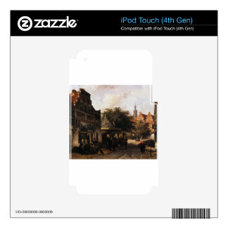 View of Oudewater by Cornelis Springer iPod Touch 4G Skin