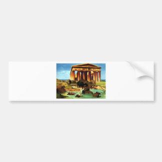 View of Paestum by Jean-Leon Gerome Bumper Sticker