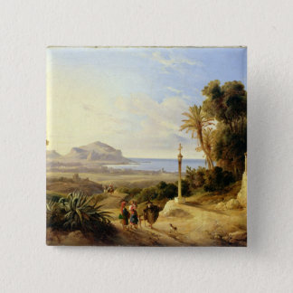 View of Palermo, 1840 Pinback Button