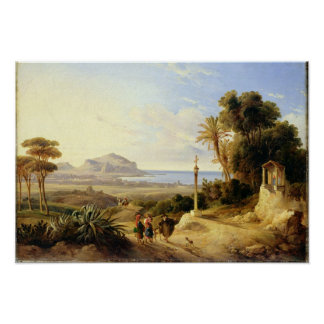 View of Palermo, 1840 Poster