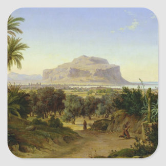 View of Palermo with Mount Pellegrino Square Sticker