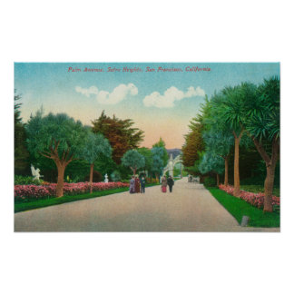 View of Palm Avenue at Sutro Heights Posters