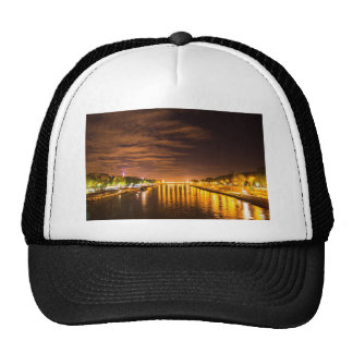 view of paris france at night and the Seine river Hat