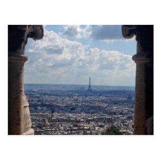 View of Paris from Basilica of the Sacré Cœur Postcard