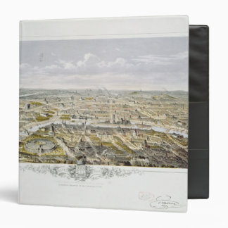 View of Paris from Bois de Boulogne 3 Ring Binder