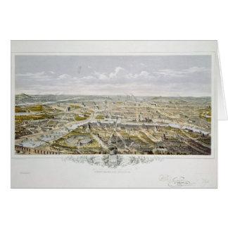 View of Paris from Bois de Boulogne Card