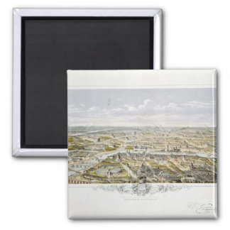 View of Paris from Bois de Boulogne Magnet