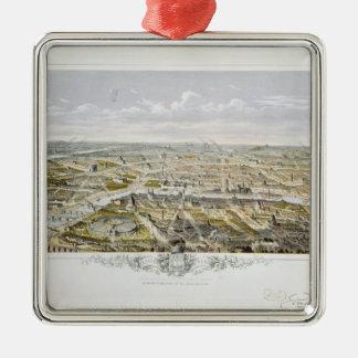 View of Paris from Bois de Boulogne Metal Ornament