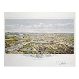 View of Paris from Bois de Boulogne Postcard