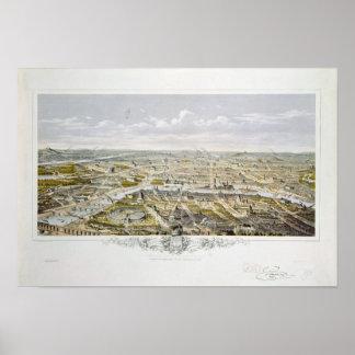View of Paris from Bois de Boulogne Poster