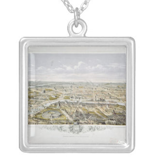 View of Paris from Bois de Boulogne Silver Plated Necklace