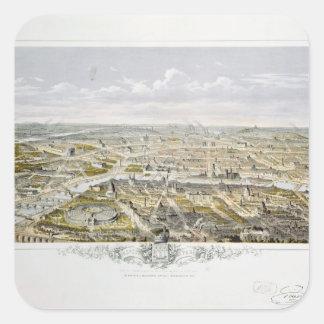 View of Paris from Bois de Boulogne Square Sticker