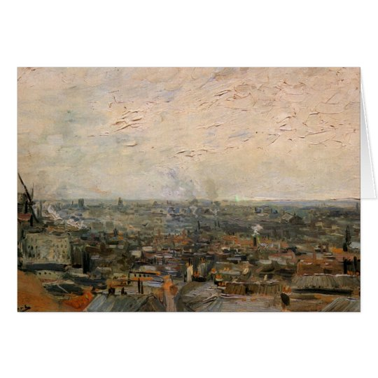 View of paris from Montmarte by Vincent van Gogh Card