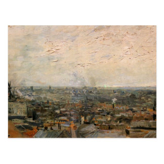 View of paris from Montmarte by Vincent van Gogh Postcard