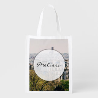 View of Paris From Montmartre Hill Reusable Grocery Bag