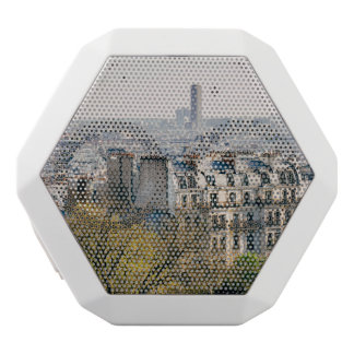 View of Paris From Montmartre Hill White Bluetooth Speaker