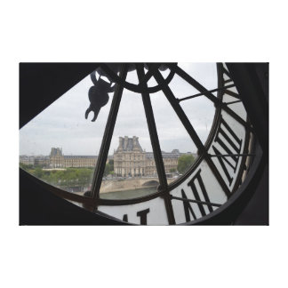 View of Paris from the Musee de Orsay Clock Canvas Print