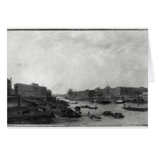 View of Paris from the Pont-Neuf, c.1800 Card