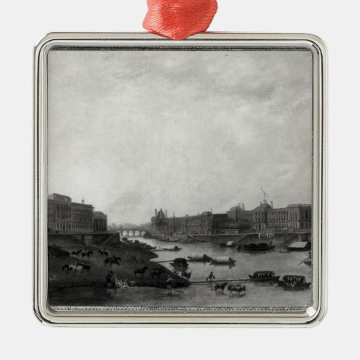 View of Paris from the Pont-Neuf, c.1800 Metal Ornament