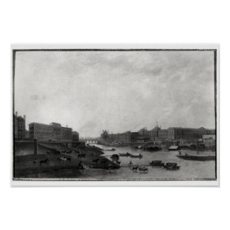 View of Paris from the Pont-Neuf, c.1800 Poster