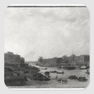 View of Paris from the Pont-Neuf, c.1800 Square Sticker