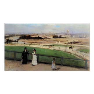 View of Paris from Trocadero by Berthe Morisot Poster