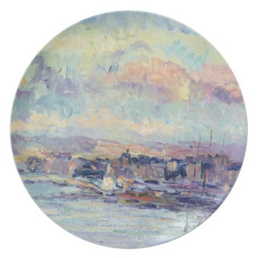 View of Paris (oil on canvas) Dinner Plates
